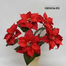 VELVET POINSETTIA BUSH x5